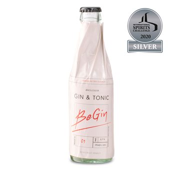 BeGin drikkeklar GIN & TONIC, 25 cl.